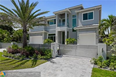 Cooper City, Coral Springs, Fort Lauderdale, Hallandale, Hillsboro Beach, Hollywood, Lighthouse Point, Oakland Park, Plantation, Pompano Beach, Sunrise, Wilton Manors Single Family Home For Sale: 3129 NE 31st Ave