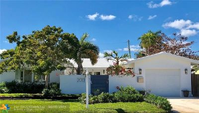 Fort Lauderdale Single Family Home For Sale: 2013 N Victoria Park Rd