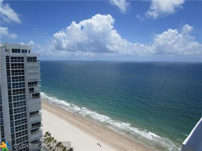 Pompano Beach Condo/Townhouse For Sale: 1370 S Ocean Blvd #2807