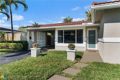Oakland Park Single Family Home For Sale: 1341 NE 47th St