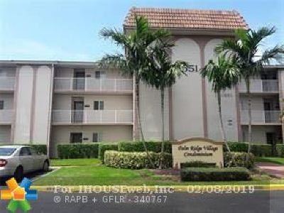 Coral Springs Condo/Townhouse For Sale: 11651 Royal Palm Blvd #304