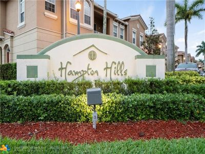 Tamarac Condo/Townhouse For Sale: 5866 Hampton Hills Blvd