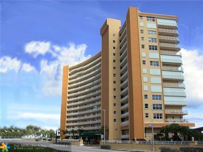 Pompano Beach Condo/Townhouse For Sale: 328 N Ocean Blvd #602