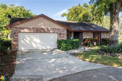 Coral Springs Single Family Home For Sale: 3942 NW 69th Ter