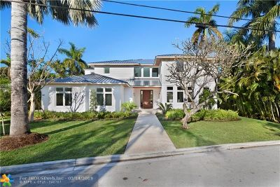 Cooper City, Coral Springs, Fort Lauderdale, Hallandale, Hillsboro Beach, Hollywood, Lighthouse Point, Oakland Park, Plantation, Pompano Beach, Sunrise, Wilton Manors Single Family Home For Sale: 1207 Seminole Dr
