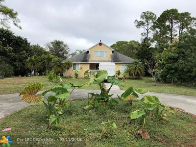 West Palm Beach Single Family Home For Sale: 11991 66th St