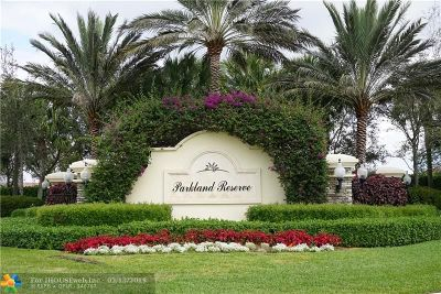 Parkland Condo/Townhouse For Sale: 10847 NW 73rd Ct
