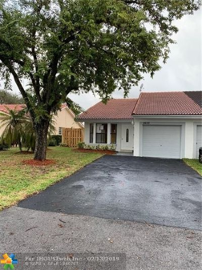 Coral Springs Single Family Home For Sale: 3633 NW 110th Ave