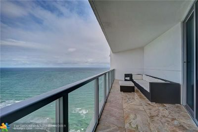Hollywood Condo/Townhouse For Sale: 3101 S Ocean Dr #3807
