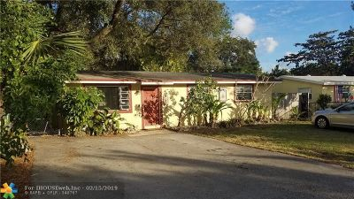 Fort Lauderdale FL Single Family Home For Sale: $349,500