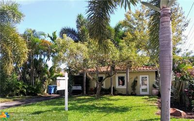 Oakland Park Single Family Home For Sale: 1660 NE 34th Dr