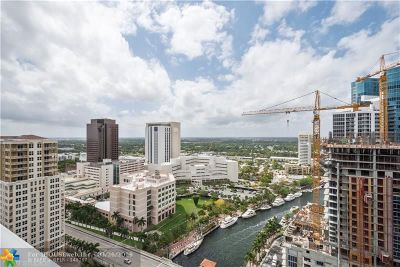 Fort Lauderdale Condo/Townhouse For Sale: 347 N New River Dr #2906