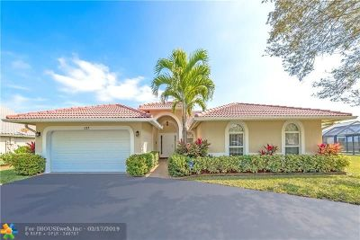 Coral Springs Single Family Home For Sale: 127 SW 120th Ln