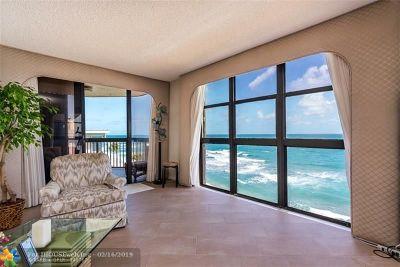 Hillsboro Beach Condo/Townhouse For Sale: 1155 Hillsboro Mile #606