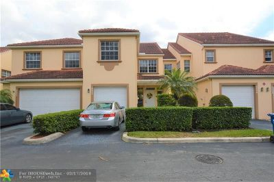 Coral Springs Condo/Townhouse For Sale: 9844 Royal Palm Blvd #9844