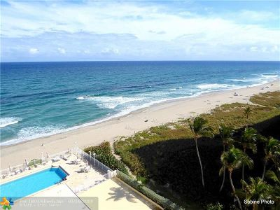 Boca Raton Condo/Townhouse For Sale: 1200 S Ocean Blvd #9B