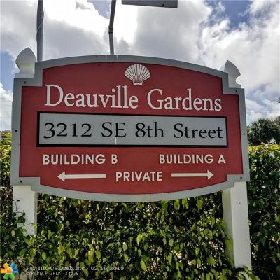 Pompano Beach Condo/Townhouse For Sale: 3212 SE 8th St #6 B
