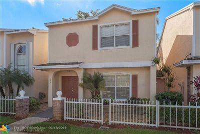 Sunrise Condo/Townhouse For Sale: 3944 NW 122nd Ter
