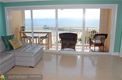 Pompano Beach Condo/Townhouse For Sale: 328 N Ocean Blvd #1407