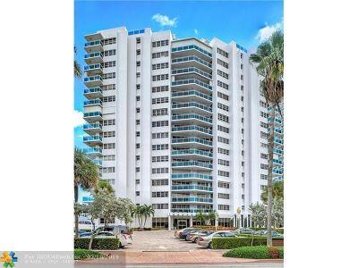 Fort Lauderdale Condo/Townhouse For Sale: 3430 Galt Ocean Dr #1601