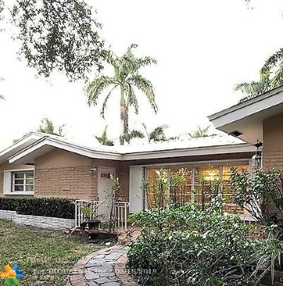 Fort Lauderdale Single Family Home For Sale: 2031 Intracoastal Dr