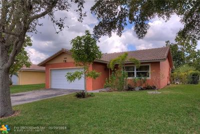 Coral Springs Single Family Home For Sale: 2495 NW 123rd Ave