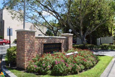 Plantation Condo/Townhouse For Sale: 6755 W Broward Blvd #209 A