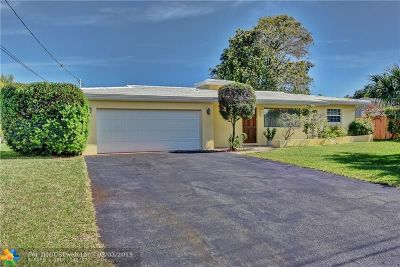 Oakland Park Single Family Home For Sale: 4720 NE 15th Ave