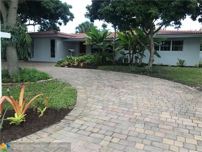 Oakland Park Single Family Home For Sale: 3498 Northeast 18th Avenue