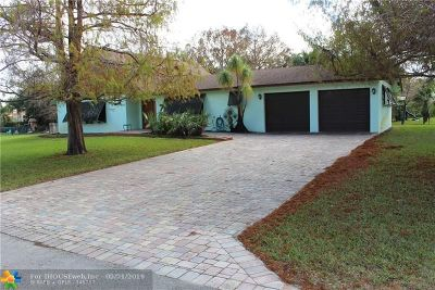 Davie Single Family Home For Sale: 13230 SW 28th Pl