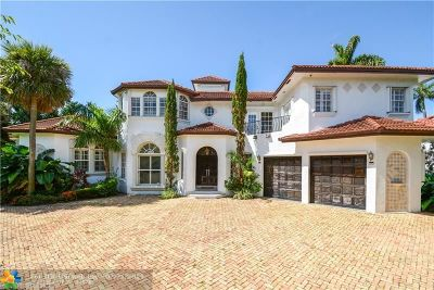 Fort Lauderdale FL Single Family Home For Sale: $3,975,000