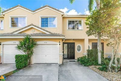 Coconut Creek Condo/Townhouse For Sale: 4712 NW 59th Manor