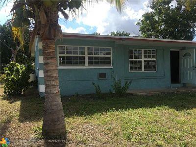 Pompano Beach FL Single Family Home For Sale: $150,000