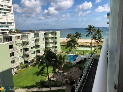 Lauderdale By The Sea Condo/Townhouse For Sale: 1770 S Ocean Blvd #608