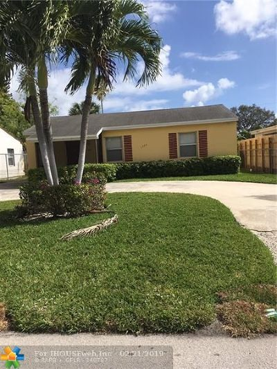 Fort Lauderdale FL Single Family Home For Sale: $245,000