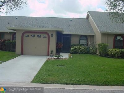 Tamarac Condo/Townhouse For Sale: 9652 NW 76 Ct #9652