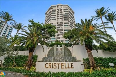 Broward County Condo/Townhouse For Sale: 1700 S Ocean Blvd #4D