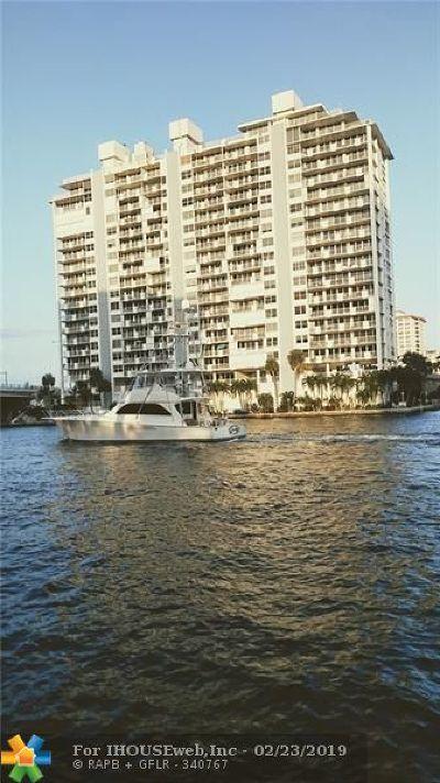Fort Lauderdale Condo/Townhouse For Sale: 2800 E Sunrise Blvd #14 D