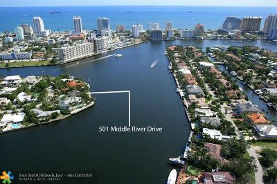 Fort Lauderdale Single Family Home For Sale: 501 Middle River Dr