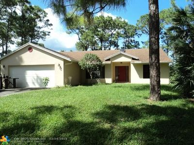 West Palm Beach Single Family Home For Sale: 12753 77th Pl. N.