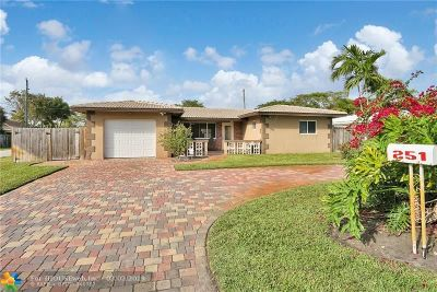Oakland Park Single Family Home For Sale: 251 NW 35th Ct