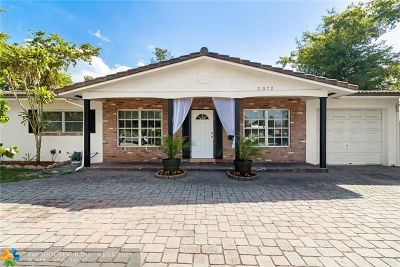 Fort Lauderdale Single Family Home For Sale: 2572 NE 26th St