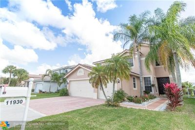 Coral Springs Single Family Home For Sale: 11930 NW 53rd Ct