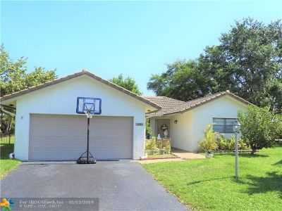 Coral Springs Single Family Home For Sale: 1285 Spring Circle Dr