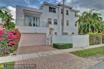 Fort Lauderdale Condo/Townhouse For Sale: 1200 N Victoria Park Rd #1200