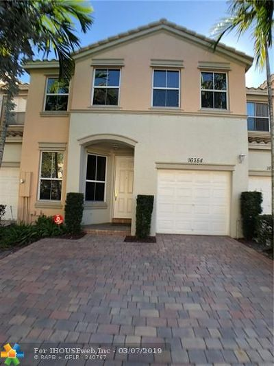 Miramar Condo/Townhouse For Sale: 16354 SW 48th St