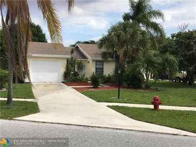 West Palm Beach Single Family Home For Sale: 4769 Brook Dr