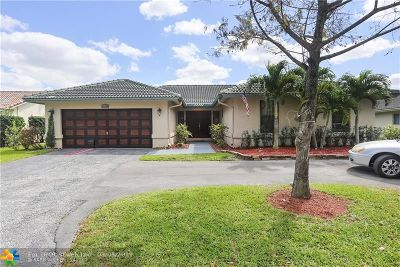 Coral Springs Single Family Home For Sale: 12164 NW 33rd St