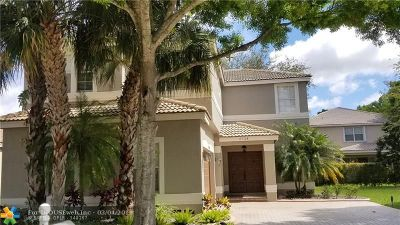 Coconut Creek Single Family Home For Sale: 5724 NW 49th Ln