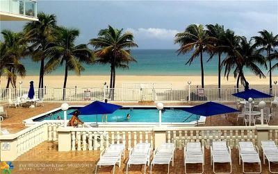 Pompano Beach Condo/Townhouse For Sale: 1000 S Ocean Blvd #10 I
